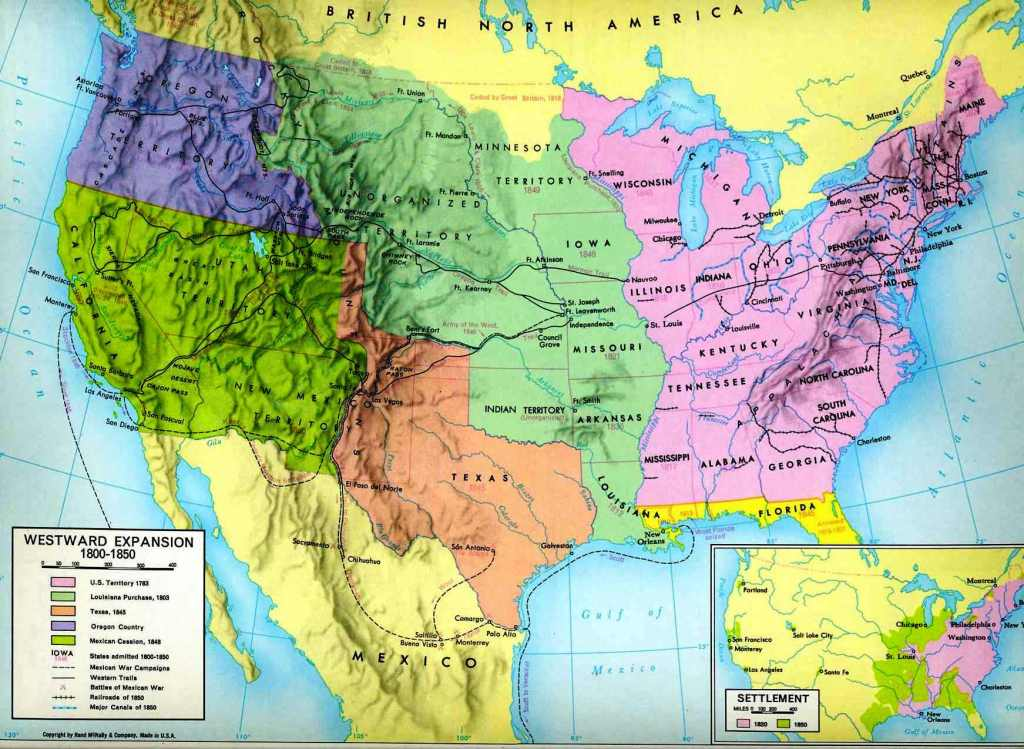 Formation Of The United States - Maps of territorial purchases us