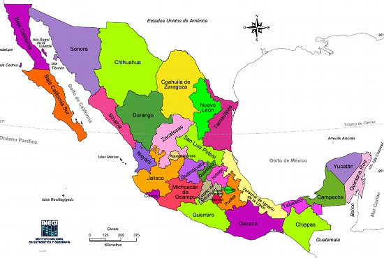 United States Following The War With Mexico Present Day Mexico Has 31 Federal States And A Federal District Like Washington D C The Following Map