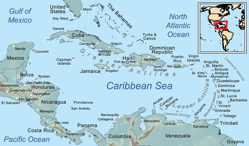 South Caribbean Islands: The Caribbean