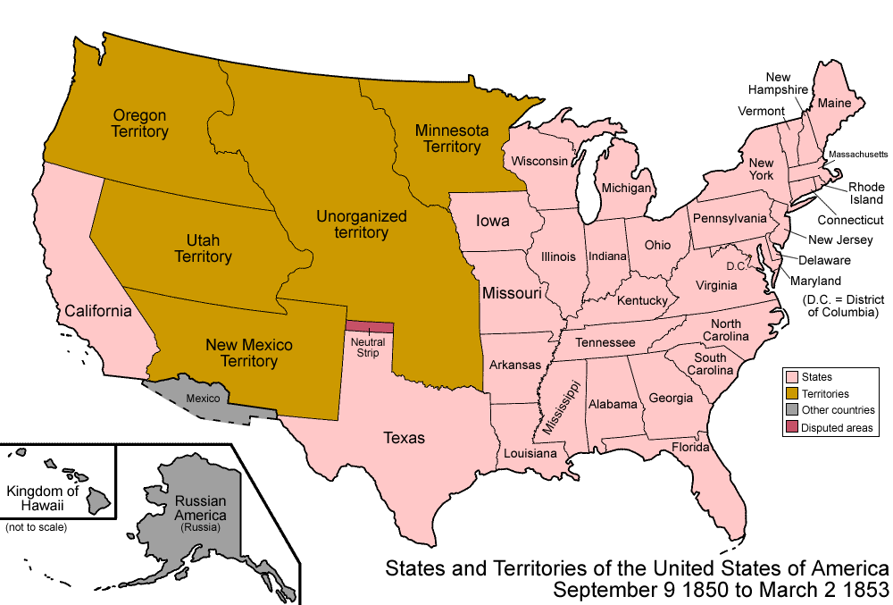 Formation Of The United States - Map of us territorial acquisitions